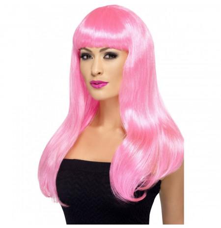 Paruke te gjata Roze Neon