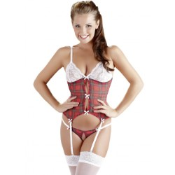 Set Komplet Intim Basque Plaid