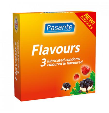 Prezervative Pasante Flavours Me Shije Frutash Dhe Ngjyra 3 cope