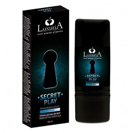 Xhel Masturbimi Dhe Stimulimi Per Meshkuj Luxuria Secret Play 30 ml