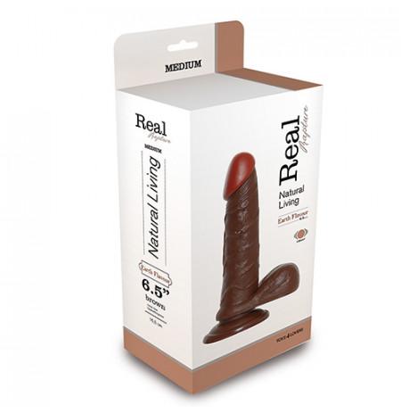 Vibrator Realist Real Rapture Brown 6.5