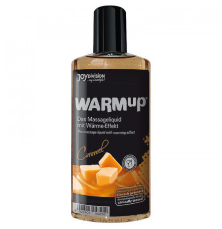 Vaj masazhi me efekt ngrohes me shije karamel 150 ml